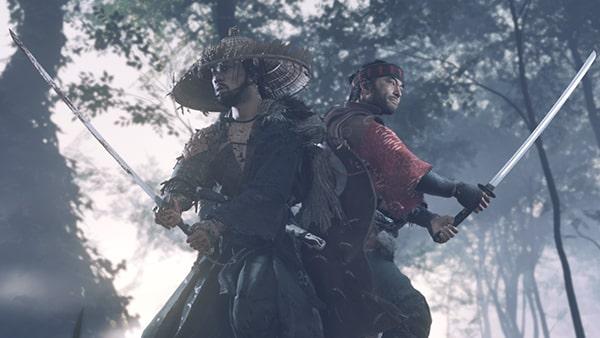 竜三と一緒に蒙古兵を倒す様子