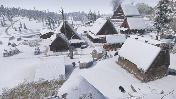 蒙古の拠点の森前の酒蔵