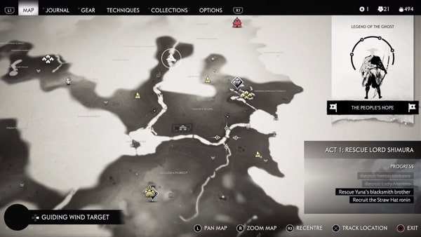 ゴーストオブツシマのマップ