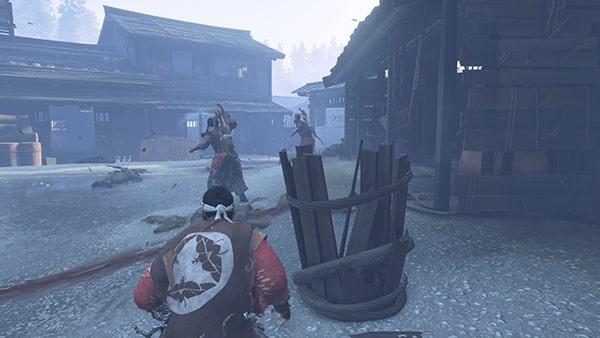 蒙古兵とのバトルシーン