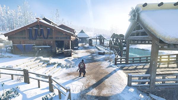浮世草の雪隠れの発生場所の風景