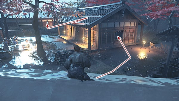 志村城の脱出の攻略ルートその3