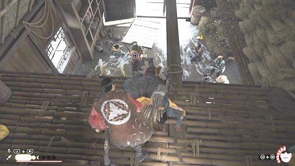 捕虜が捕まっている小屋の様子