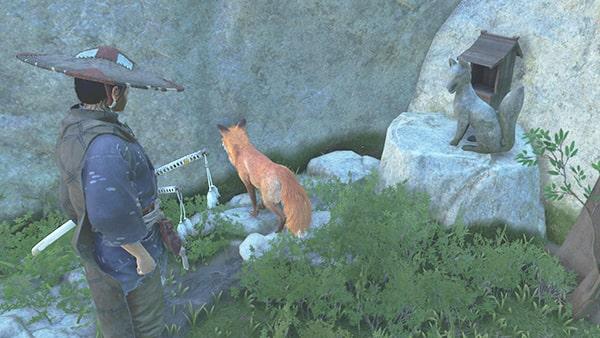 ゴーストオブツシマの狐と稲荷の祠