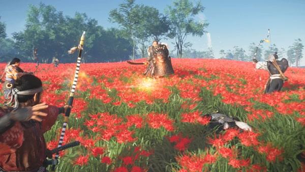 蒙古兵と戦うバトルシーン