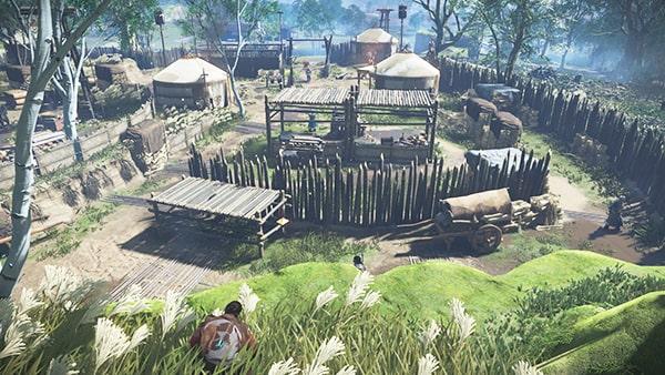 アルタンの野営の風景