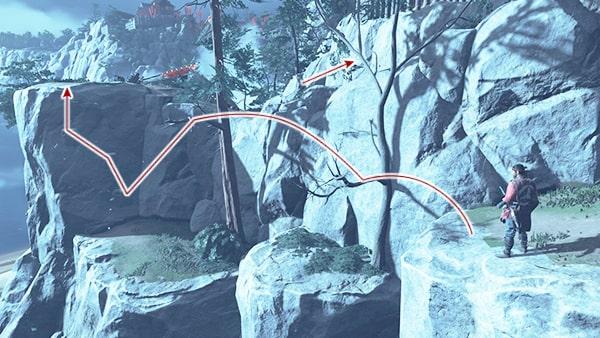 金田城への侵入の攻略ルート