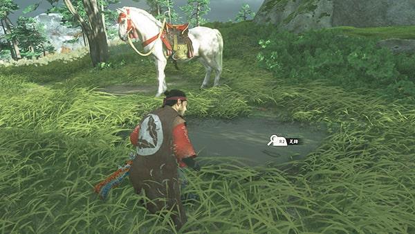 百合の馬近くの足跡