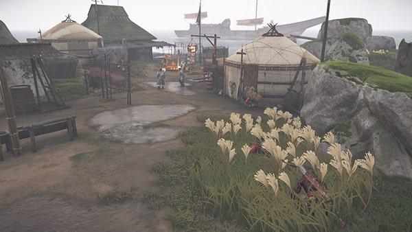 蒙古の野営の風景