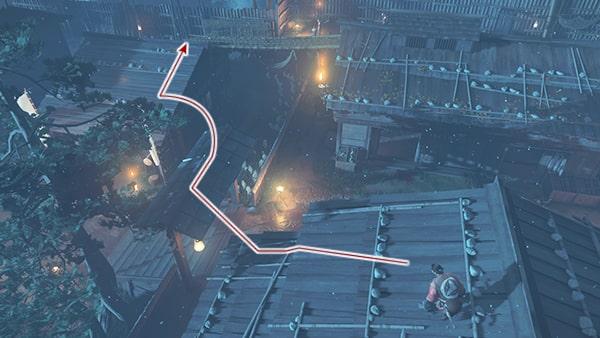 屋根上の攻略ルート