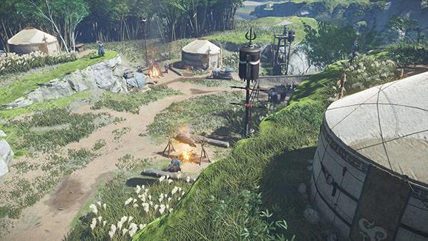 野営地にいる蒙古兵たち