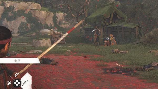 襲って来た蒙古兵との戦闘の様子