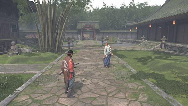 浮世草の苦難の果てにを開始する櫛寺の風景