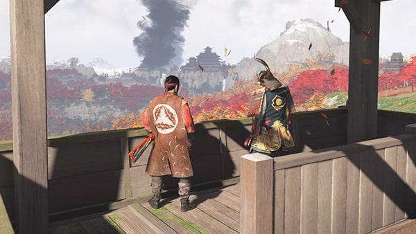 志村がいる櫓の風景