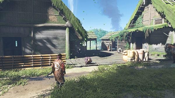 浮世草・冥人と先生とを開始する川俣の集落の風景