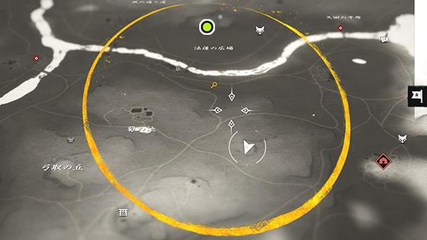 地図に記された場所