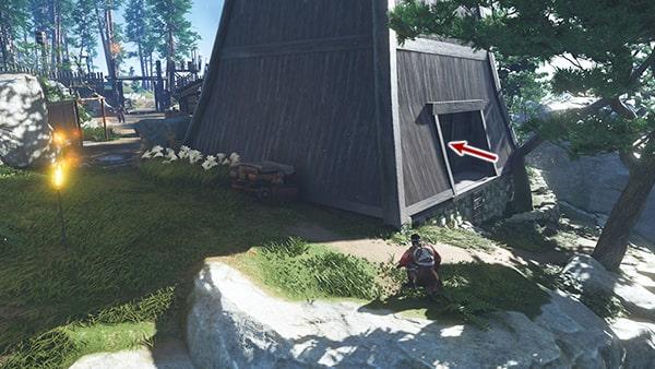 太平砦のかがり火台への攻略ルートその2