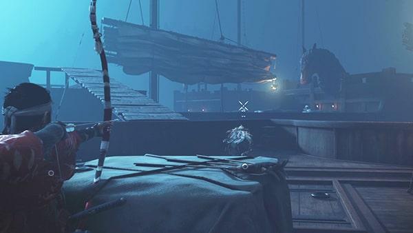 蒙古の船でのバトルシーン