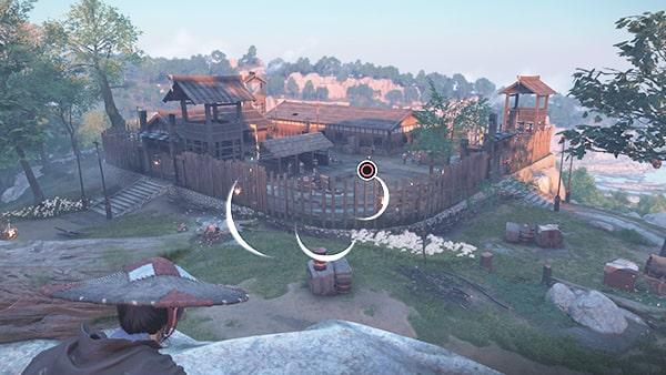 中山砦を調べてる様子