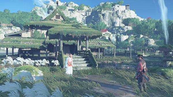 浮世草の盗人の発生場所の小清水の集落の風景