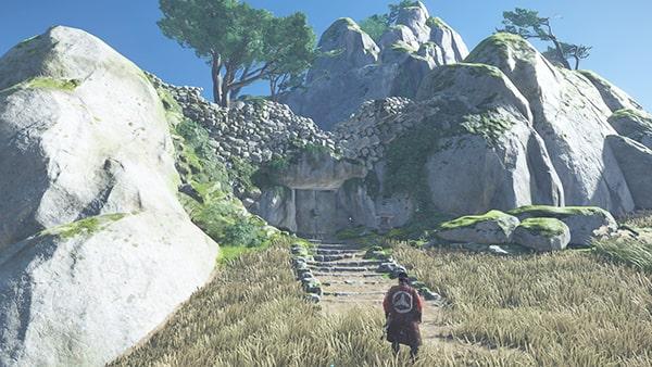 赤島の丘の吾作の鎧の丘