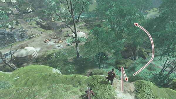 鑓川への侵入攻略ルートその1