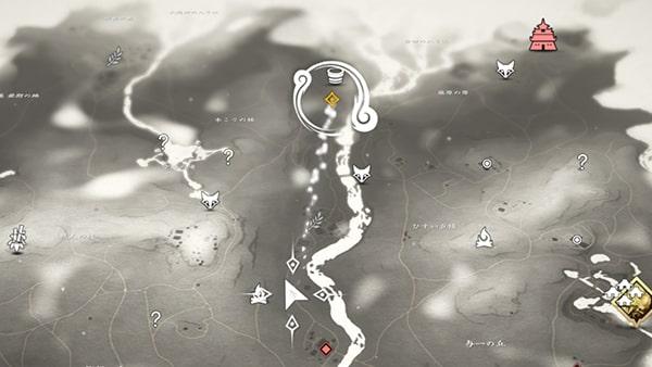 次の目的地までの道のりマップ