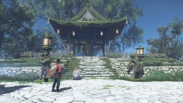 赤島の村にいる典雄の浮世草発生地