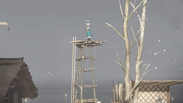 見張り櫓にいる蒙古弓兵