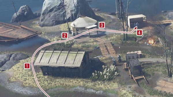 野営地の攻略ルート