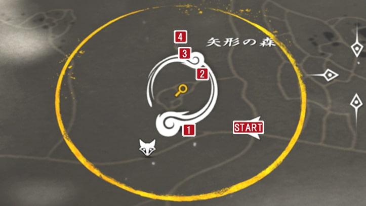 攻略手順のマップ