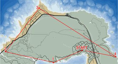 航空密輸3のマップ