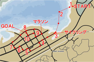 トライアスロン2:アラモ海(Alamo Sea Triathlon)のマップ
