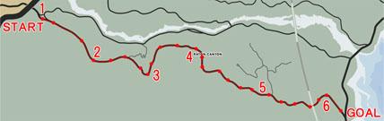 オフロードレース1:キャニオンクリフ(Canyon Cliffs)マップ