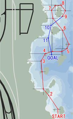 シーレース:東海岸(East Coast)マップ