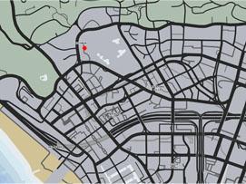 ゴルフ場の場所マップ