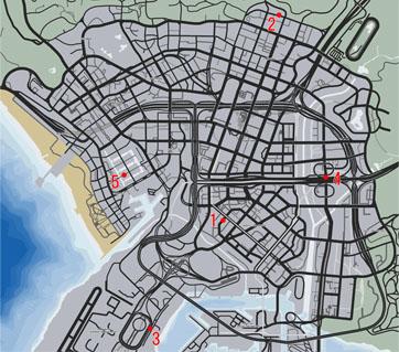シティサーキット開催のマップ