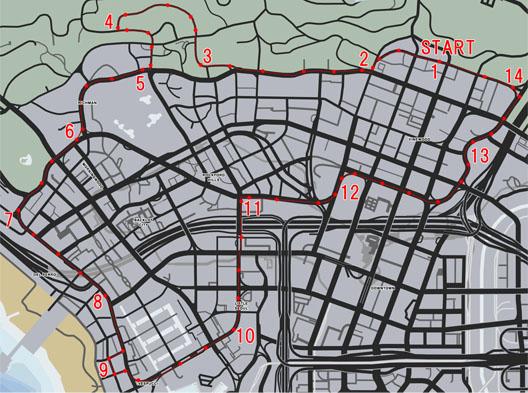 シティサーキット(City Circuit)のレースマップ