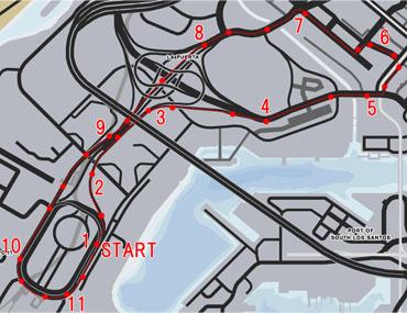 空港(Airport)のレースマップ