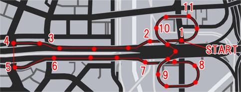 高速道路(Freeway)のレースマップ