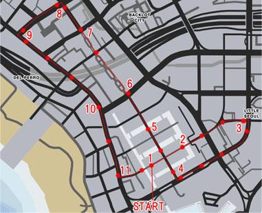 ベスプッチ運河(Vespucci Canals)のレースマップ