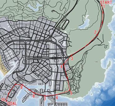 ヘリスピードラン(Helicopter Speed Run)マップ