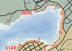 オフロードレース5:レイクサイドの水しぶき(Lakeside Splash)マップ