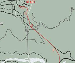 ラマー・ダウンの帰り道マップ