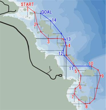 シーレース:北東海岸(North East Coast)マップ
