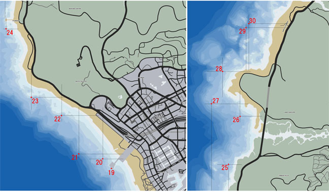 放射性廃棄物(19〜30個)のマップ