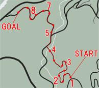 オフロードレース2:リッジラン(Ridge Run)マップ