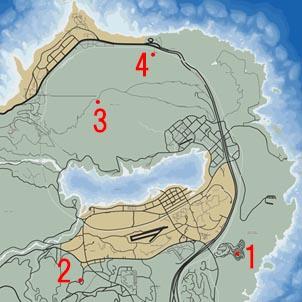 GTA5ミッション『Special Bonds』のマップ