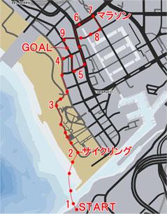 トライアスロン1:ベスプッチ運河(Vespucci Triathlon)のマップ