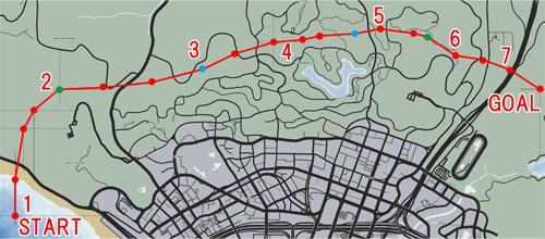バインウッド・フライバイ(Vinewood Flyby)のマップ